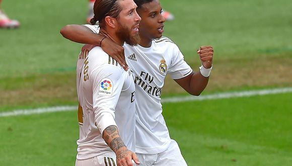 Sergio Ramos marcó el gol del triunfo de Real Madrid en San Mamés. (AFP)