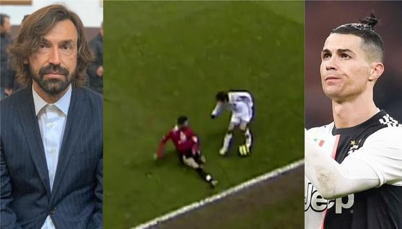 Un video viral recuerda la lección de fútbol que Andrea Pirlo le dio a Cristiano Ronaldo en el 2005.   Crédito: @cristiano / @andreapirlo21 / Instagram / @championsleague / Twitter