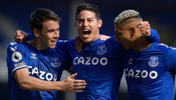 James Rodríguez lleva un gol desde su llegada al Everton. (AFP)