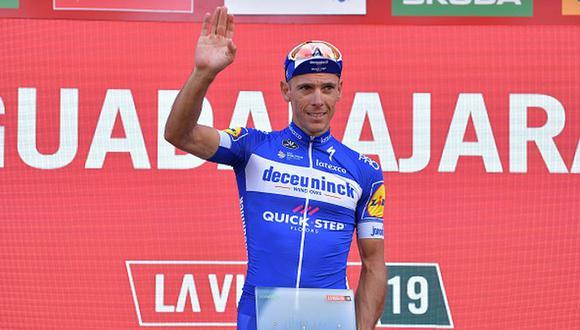 Philippe Gilbert  en el podio de la Vuelta a España 2019. (Foto: Getty Images)