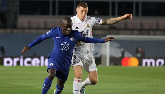 N'Golo Kanté fue elegido el mejor jugador del partido ante Real Madrid por Champions League. (Foto: Agencias)
