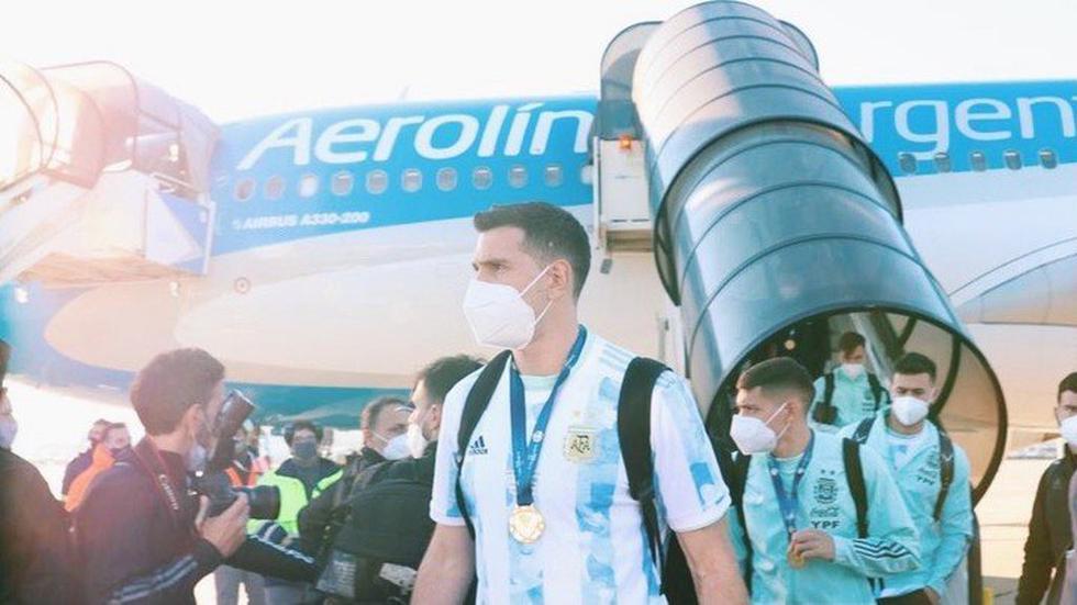 Argentina aterrizó luego de ganar la Copa América