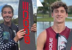 Cristhiana y Rafael de Osma baten récords nacionales en esquí acuático