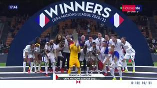 Francia derrotó a España y se coronó campeón de la UEFA Nations League