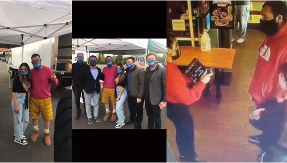 Adam Sandler se reencontró con mesera del video viral de TikTok.