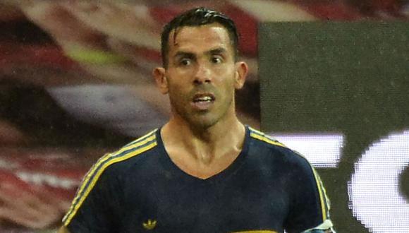 Carlos Tévez fue titular en el empate 1-1 entre Boca Juniors y River Plate. (Foto: AFP)