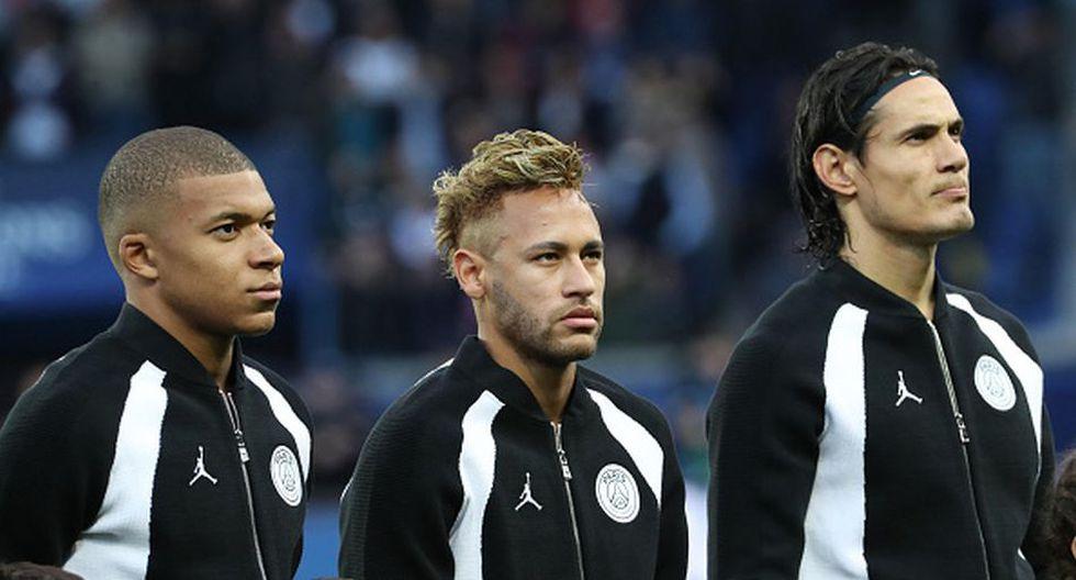 Neymar, Cavani y Mbappé no podrán ser parte del Real Madrid vs. PSG por Champions League. (Getty)