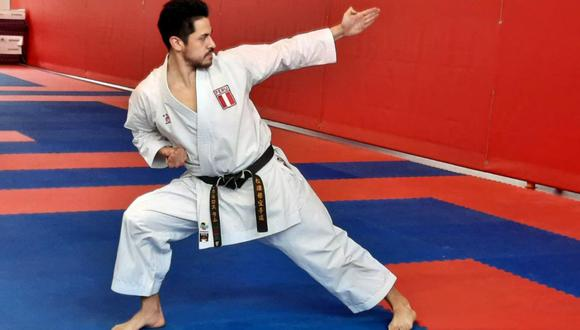 Karateca Carlos Lam resaltó la importancia de volver a entrenar en la Videna. (IPD)