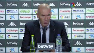"""Zinedine Zidane: """"El árbitro ha pitado justo lo que ha pasado, es el que manda"""""""