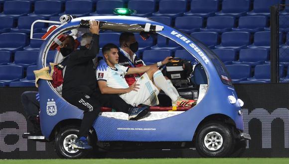 Exequiel Palacios no jugaría ante Perú tras sufrir dura lesión frente a Paraguay. (Reuters)