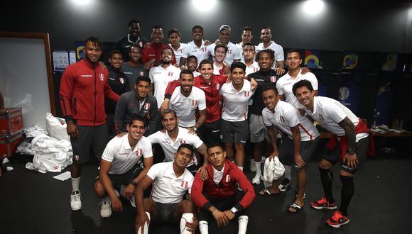 La Selección Peruana tras la clasificación. (Foto: @SeleccionPeru)