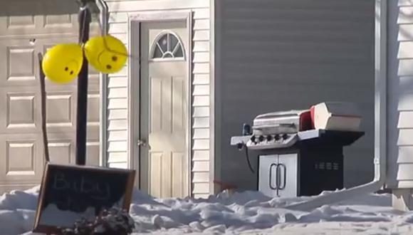El joven falleció producto de la salvaje explosión de un cañón que iba a revelar el sexo del bebé.  Foto: Eyewitness News WTVO WQRF