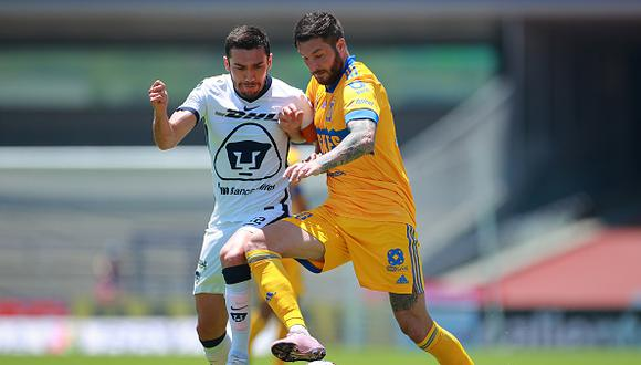 Pumas vs. Tigres se vieron las caras este domingo por la jornada 15 de la Liga MX 2021 (Foto: Getty Images)