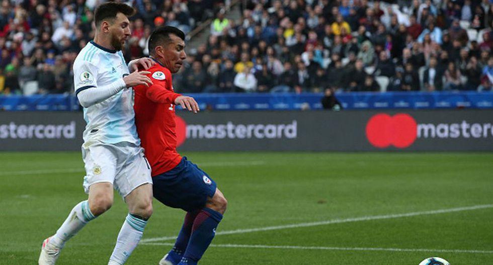 Lionel Messi vio la roja ante Chile por Copa América. (Getty)