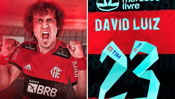 David Luiz fue anunciado como nuevo jugador de Flamengo. (Foto: Twitter)