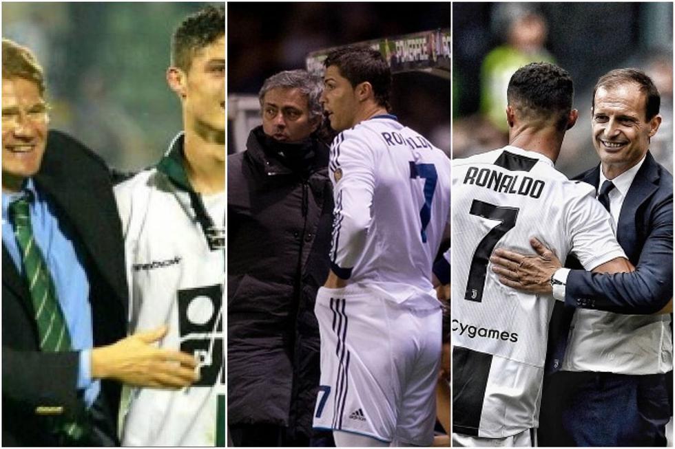 Los entrenadores de Cristiano Ronaldo en toda su carrera. (Internet)
