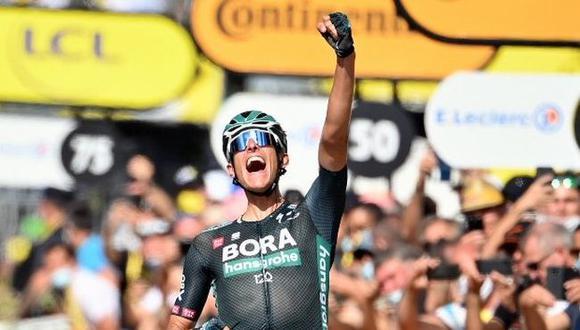 Nils Politt ganó la Etapa 12 del Tour de Francia 2021 entre Saint Paul Trois Chateaux y Nimes. (Twitter)