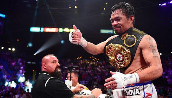 Manny Pacquiao registra un récord de 62-7-2 como profesional. (Getty Images)