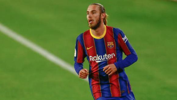 Óscar Mingueza anotó su primer gol como futbolista profesional en el Huesca por LaLiga. (Foto: Getty Images)