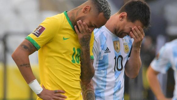 Partido interrumpido entre Argentina - Brasil en el Arena Corinthians por autoridades sanitarias. Más detalles aquí. (Foto: AFP)