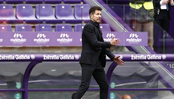 Diego Simeone ganó LaLiga Santander 2020-2 con el Atlético de Madrid. (Foto: Reuters)
