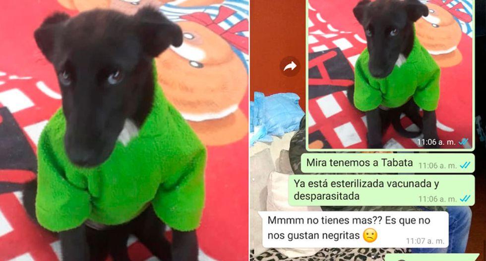 FOTO 1 DE 4 | En las siguientes imágenes verás la conversación de dos jóvenes para adoptar a Tábata. | Crédito: Leidi Gómez en Facebook. (Desliza hacia la izquierda para ver más fotos)
