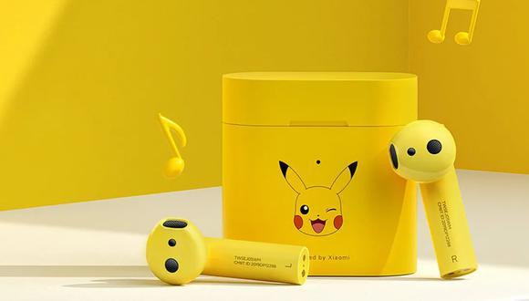 Así lucen los audífonos de Xiaomi inspirados en Pikachu. (Foto: Xiaomi)