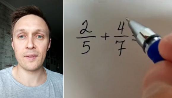 El profesor compartió sus conocimientos para llegar a la solución de un ejercicio matemático y miles de usuarios quedaron asombrados. (Foto: @dima_davidyuk / TikTok)