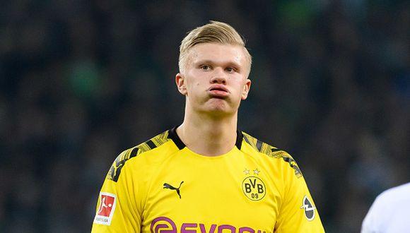Erling Haaland juega su primera temporada con la camiseta del Dortmund. (Foto: Getty)