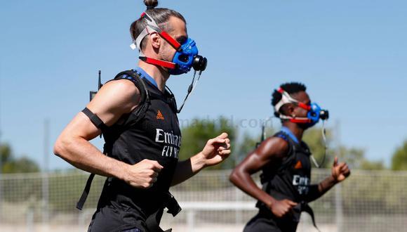 Pintus volvió a emplear las máscaras de hipoxia con algunos jugadores. (Foto: Real Madrid)