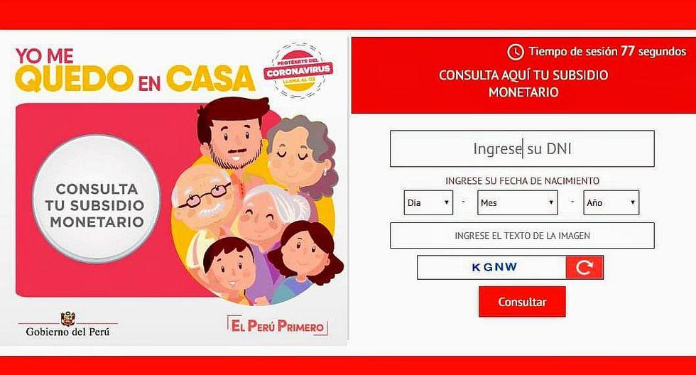 #Yomequedoencasa: sigue todos detalles del Bono de 380 soles y entérate cómo cobrar el subsidio del Gobierno. (Foto: Captura)