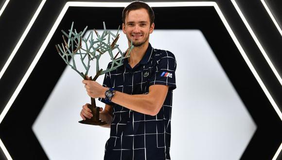 Daniil Medvedev se coronó campeón del Masters de País por primera vez. (Foto: AFP)