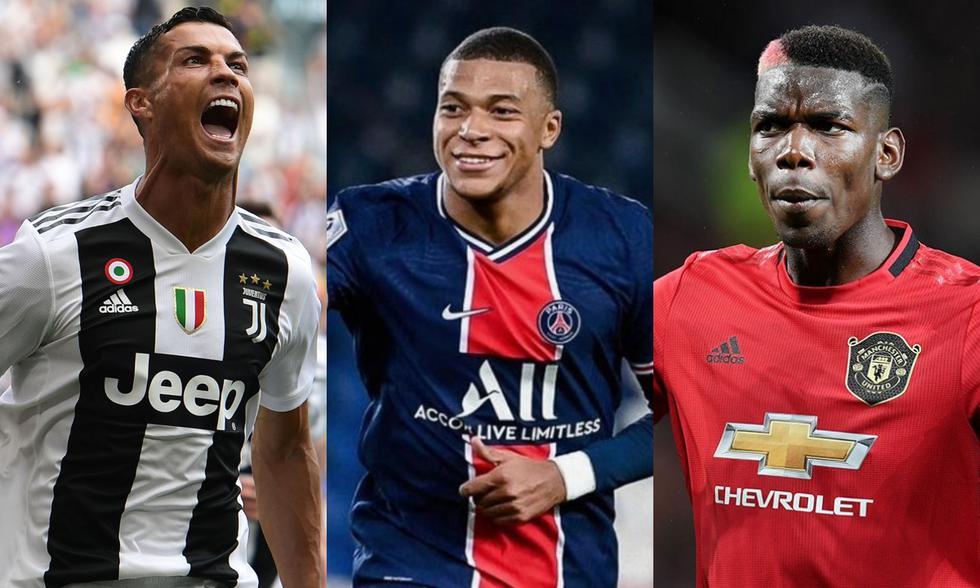 Cristiano Ronaldo, Mbappé y Pogba son algunos de los futbolistas que quedarán como agentes libres el 2022. (Foto: Agencias)