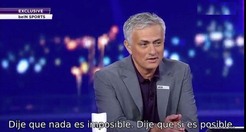 Mourinho dirigió al Manchester United y enfrentó al Liverpool de Jurgen Kloop. (BeinSports)