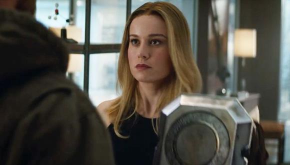 Capitana Marvel ante Thor en Avengers: Endgame