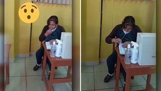 Viral: Miembro de mesa rompe protocolo de sanidad al contar padrón electoral