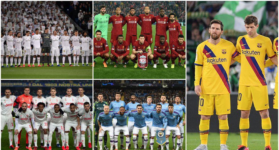 Conoce el valor de las plantillas que están clasificadas a octavos de final de la Champions league. (Fotos: AFP)
