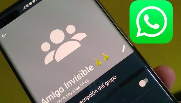 """Conoce cómo poder organizar el sorteo del """"amigo secreto"""" o """"amigo invisible"""" en WhatsApp. (Foto: Depor)"""