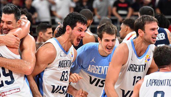 Argentina derrotó a Francia en las semifinales del Mundial de Básquet 2019 desde China. (Getty Images)