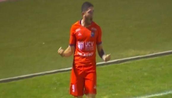 Silva anotó un gran doblete en el César Vallejo vs. Municipal (Captura)
