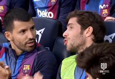 Deuda pendiente: el fallido intento de Sergio Agüero por aprender el himno del Barcelona [VIDEO]