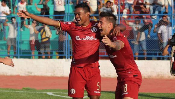 Germán Denis le dio el triunfo a Universitario de Deportes en el último partido de la Liga 1. (Foto: Universitario)