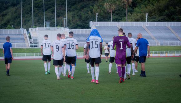 Alemania abandonó amistoso ante Honduras a cinco minutos del final. (Twitter)
