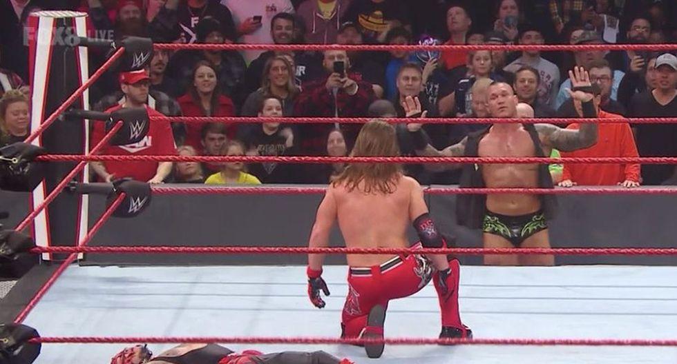 Randy Orton fue el culpable de que AJ Styles perdiera la oportunidad de recuperar el título de los Estados Unidos ante Rey Mysterio. (Foto: WWE)
