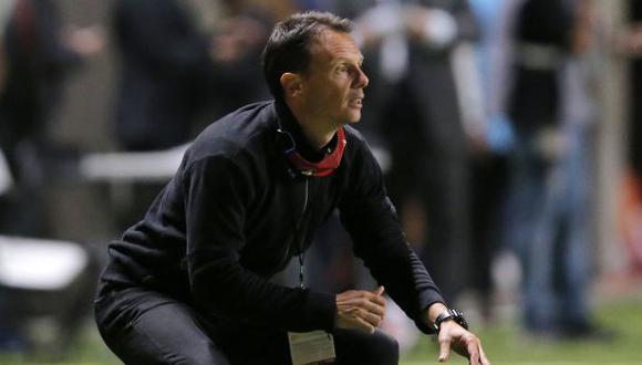 Luca Marcogiuseppe es técnico de La Calera desde febrero del 2021. (Foto: AFP)