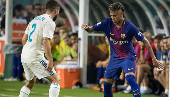 Neymar podría llegar al Real Madrid tras un corto paso por el PSG. (Getty)