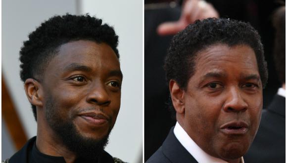 Denzel Washington le pagó los estudios a Chadwick Boseman y ninguno de los dos lo sabía. (Foto: AFP)