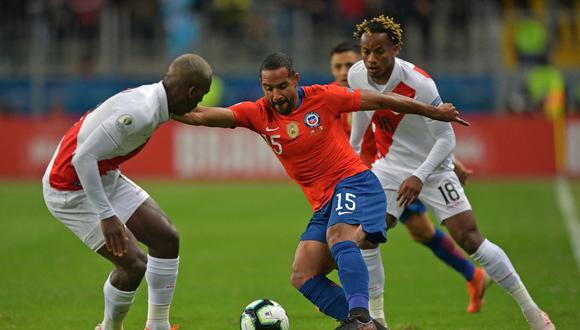 Jean Beausejour estuvo presente en la derrota ante Perú por la Copa América 2019. (Foto: AFP)