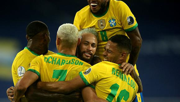 Brasil clasificó a cuartos de final de la Copa América tras golear a Perú. (Getty)