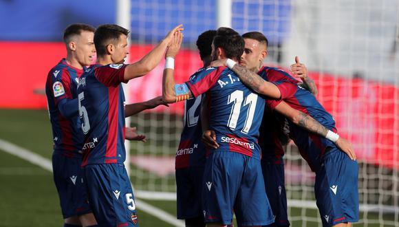 Levante venció 2-1 a Real Madrid por la fecha 21 de LaLiga. (AP)